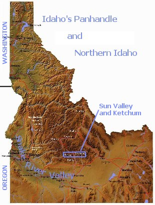 Topo map of Idaho