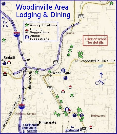 Woodinville Area wine country lodging and dining suggestions