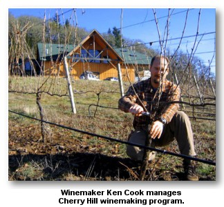 Cherry Hill Winery's winemaker Ken Cook