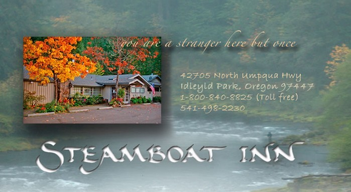 The Steamboat Inn on the North Umpqua River near Roseburg, Oregon